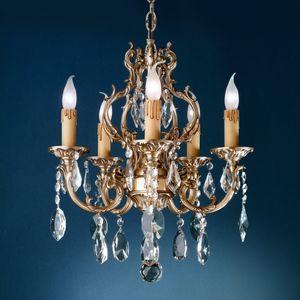 Art. 134, Chandelier with pendants in Bohemian crystal