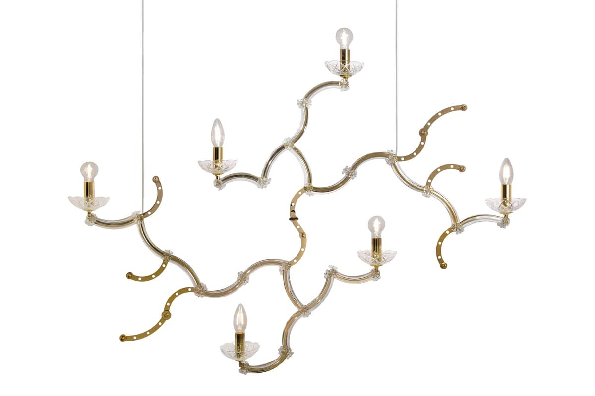 Chandelier with great dimensions idfdesign ghebo se146 1 int chandelier with great dimensions arubaitofo Images
