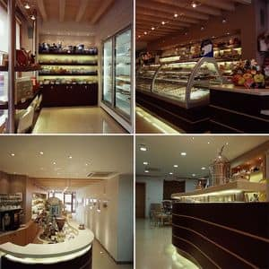 Picture of Ai Portici - pastry-ice cream shop - Portogruaro, made-on-measure restaurant furniture