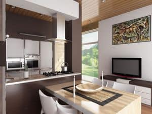 Picture of Interior design for a villa with bioclimatic controls in Udine, made-on-measure bar furniture