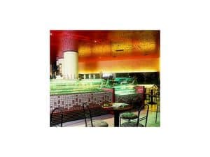 Picture of Piano bar ice cream shop - Bibione, made-on-measure restaurant furnishing