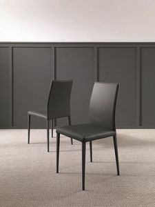 Dandy, Design chair in leather or eco-leather