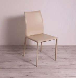 Erica, Metal chair covered in leather