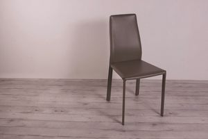 Hippo, Design chair in thick split leather