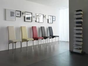 Masai, Elegant chair, with leather upholstery, available in many colors