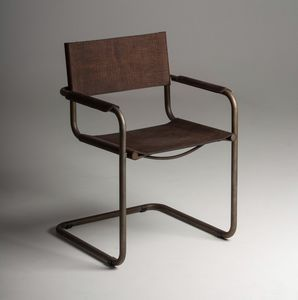 Meccanica sedia con braccioli, Chair with armrests, with cantilever base