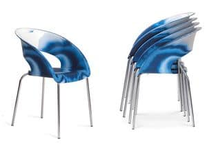 Picture of Bluebell Mare, chairs with seat in plastic material