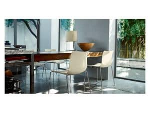 Catifa 46 0251, Chair in metal frame, for modern houses
