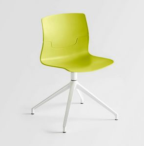 Slot U, Swivel chair, aluminum base with 4 races