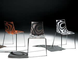 Picture of Wave chair, formal metal chairs