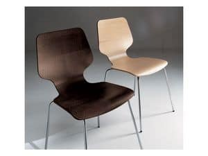 Picture of Carol, design chair in metal and wood