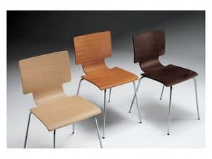 Picture of Creek, designer's minimal chairs in metal and wood