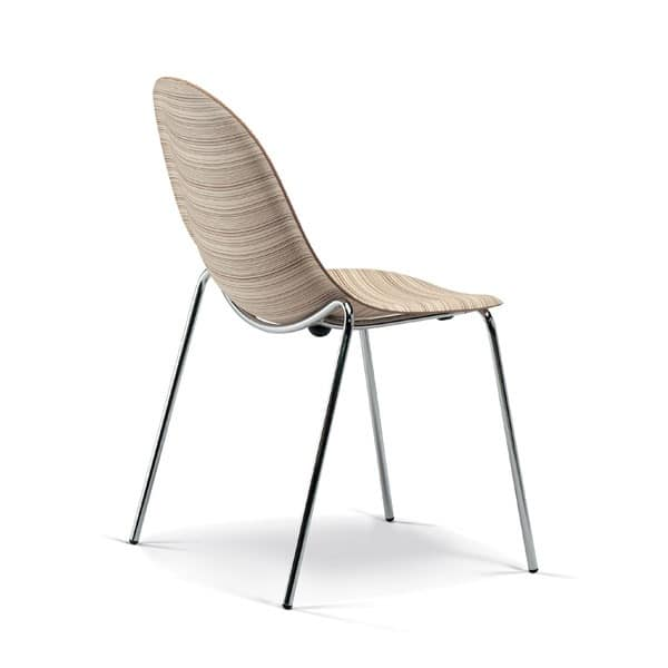 Stackable Chair Minimal Bent Plywood Shell Idfdesign