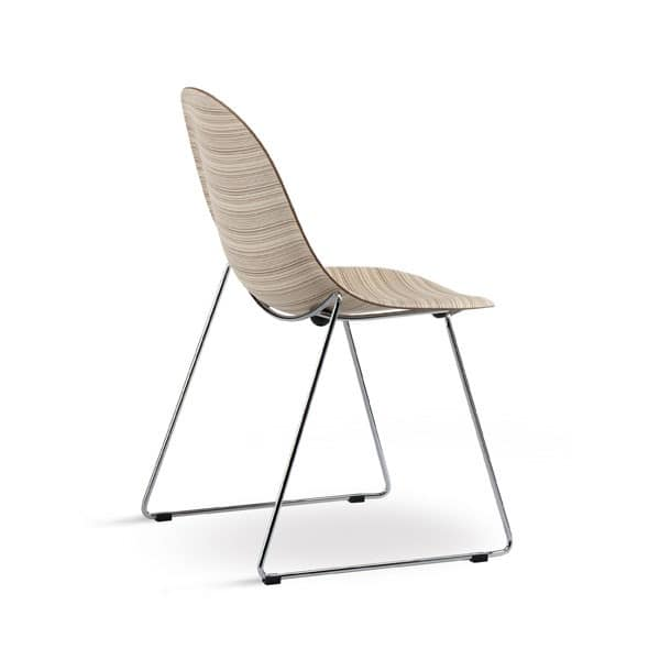 Sled Chair Of High Design In Metal And Plywood IDFdesign