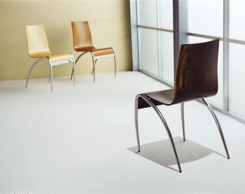 Relax wood metal base chair kitchen idfdesign