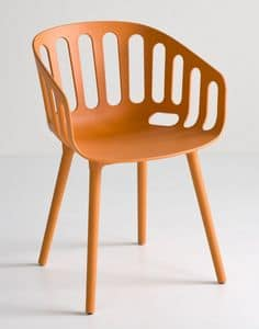 Basket Chair BP, Polymer Design chair for bars and restaurants