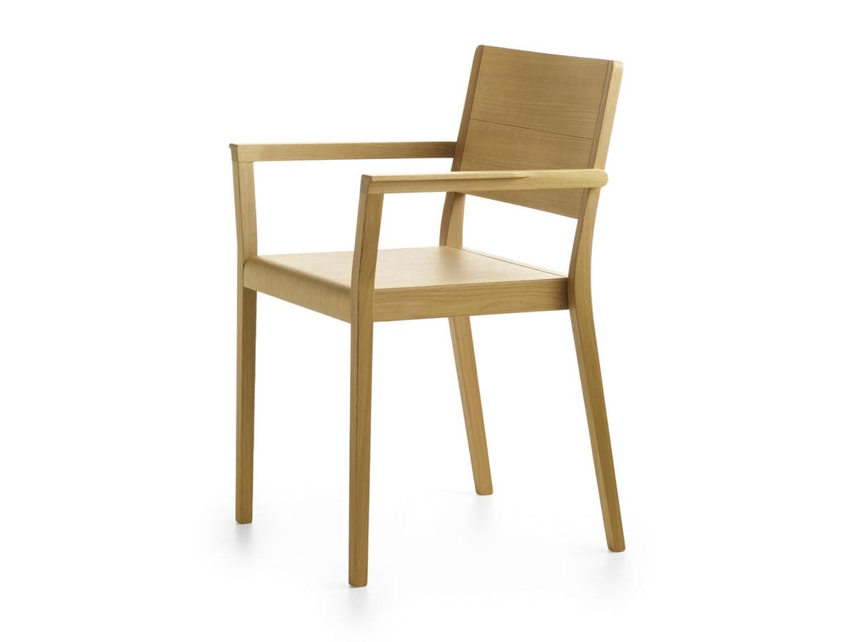 Stackable wooden armchair idfdesign for Chair vs chairman