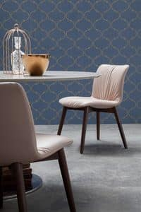 FELIX, Leather or eco-leather upholstered chair