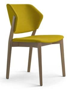 Turtle chair, Chair in solid beech, for vintage environments
