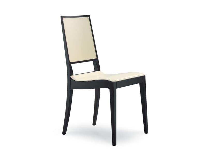 Minimalist Chair minimalist chair in wood and leather, for dining room | idfdesign