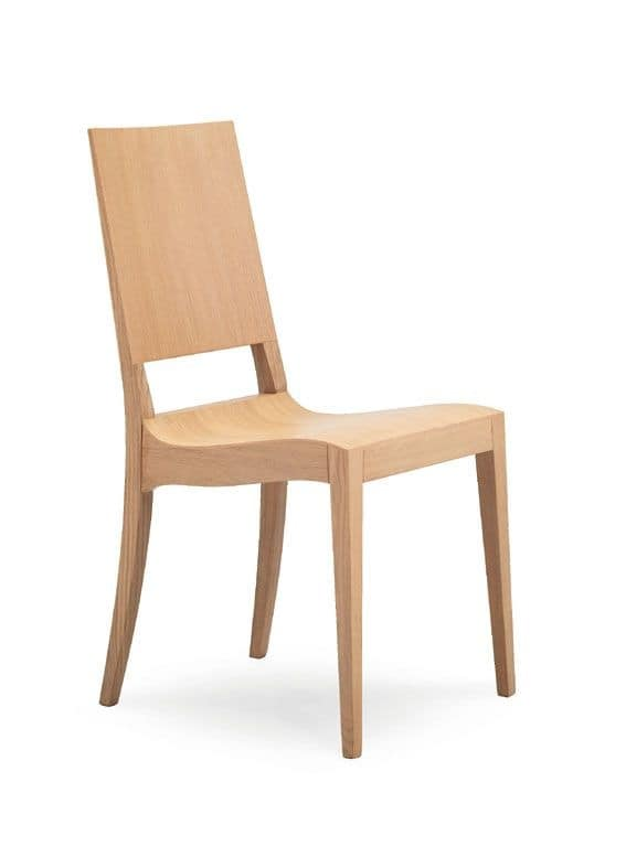 Seats chairs modern design wood with plain backrest without armrests