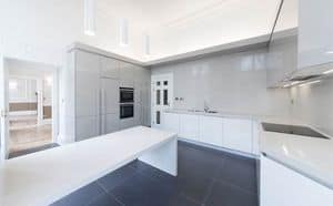 Maxi kitchen AS design, Practical kitchen, with new finishes and strict forms