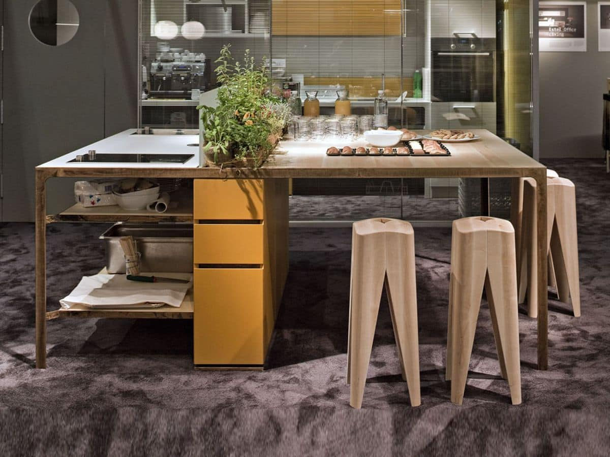 More kitchen island, Kitchen island for workplaces