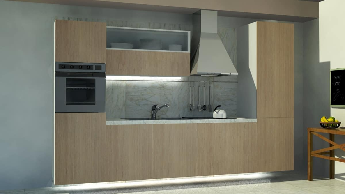 Oslo, Compact kitchen, with a clean design