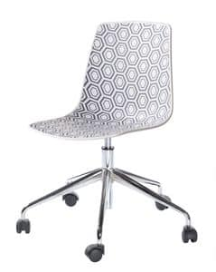 Alhambra 5R, Chair with swivel base with castors, for office