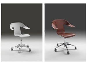 Anna 2, Swivel armchair on castors, adjustable height