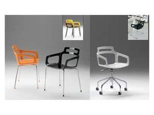 Hole 2, Swivel chair on castors, for home and office