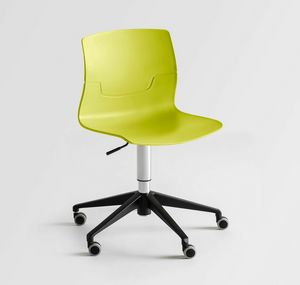 Slot OR5, Swivel chair with wheels, polymer shell