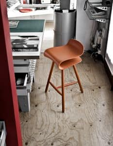 BCN Wood Base, Stool in beech legs with rubber feet