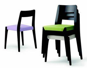 143 Cotton, Elegant stacking chair