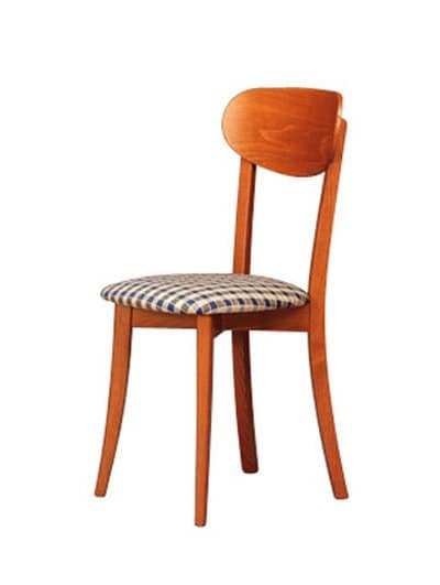250, Dining chair with upholstered seat for dining room