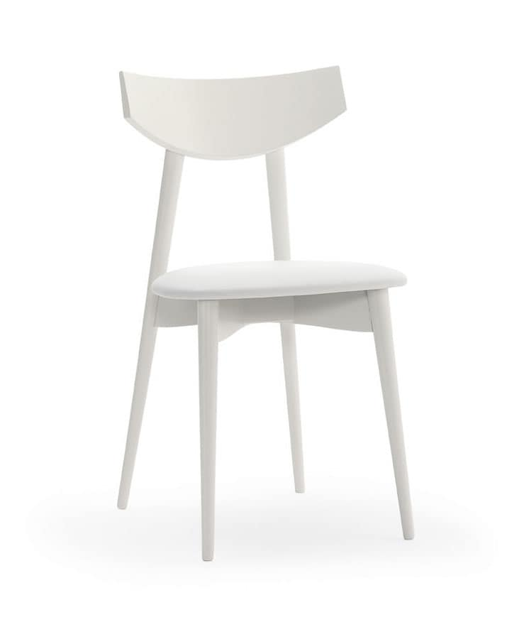 DAYANA, Chair in beech wood for domestic and contract use