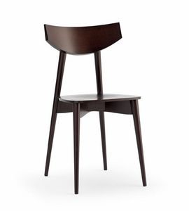 DAYANA wood, Chair with plywood seat, for kitchen and bar