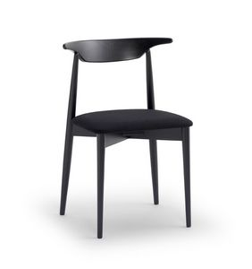 MUSICA, Versatile chair with padded seat, ergonomic backrest