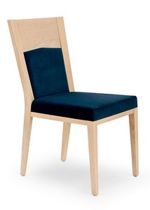 Nico PLUS, Elegant upholstered wooden chair