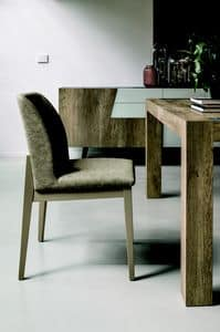 SALISBURGO SE508, Solid wood chair with soft padding