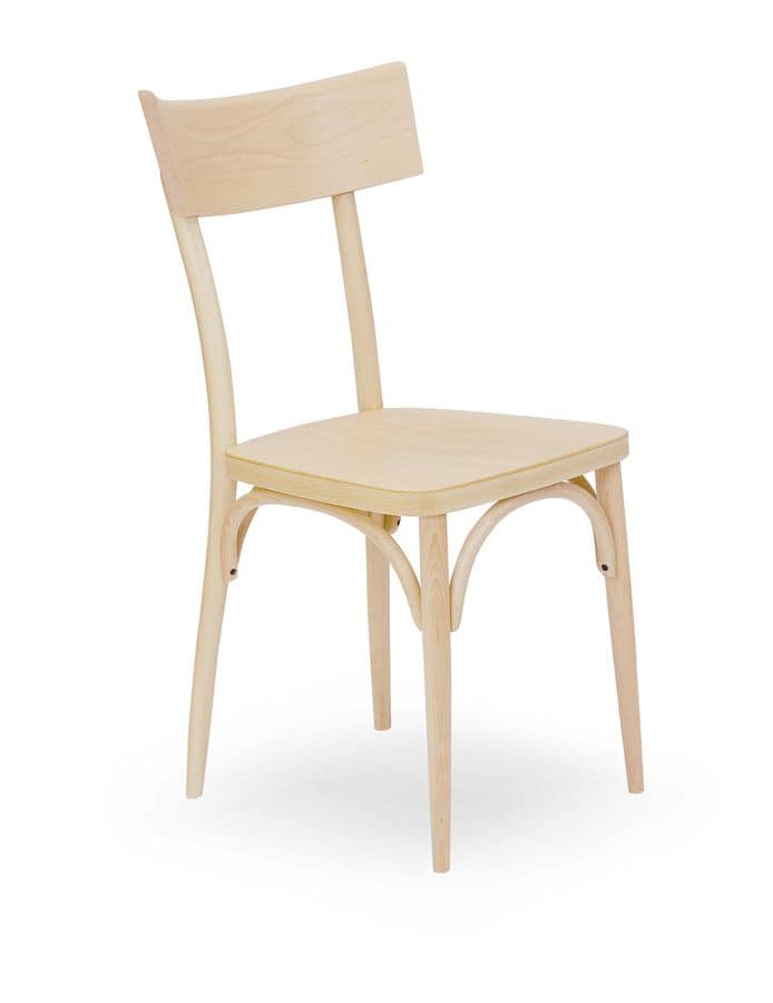 Wien, Wooden chair, for contract environments