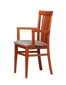 315 P, Armchair with vertical slats back, for tavern