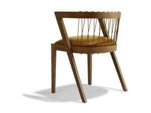 Picture of STRING, wooden chair with arms