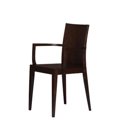 334, Chair entirely in beechwood, for restaurants