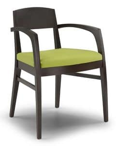 Ketty C, Chair with padded seat, for the kitchen and the living room