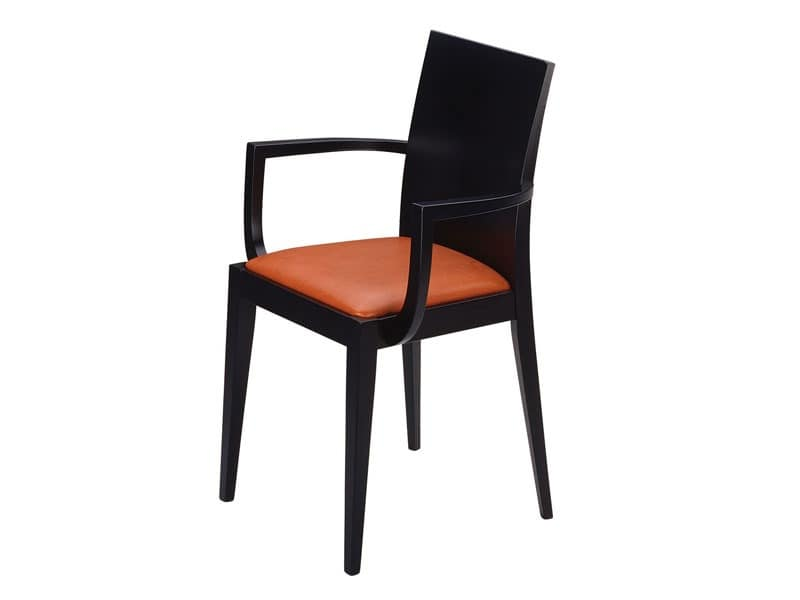 Masha/P, Armchair with padded seat, for bars and restaurants