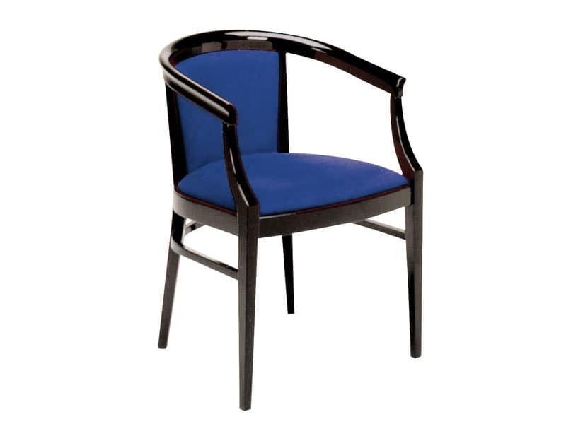 064, Classic style armchair made of painted wood, for restaurants