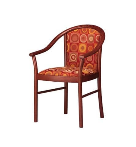 408, Upholstered chair, with armrests, for hotels and pubs