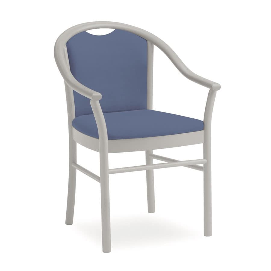 Dolly L1175 M, Classic chair with armrests, functional, for hotels
