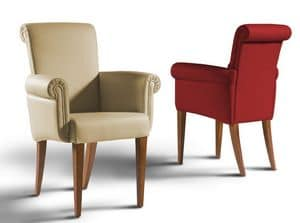 Gatsby small armchair, Dining chair with soft paddings